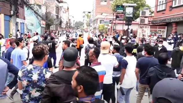 स्थिर सरकारको पक्षमा युवाको प्रदर्शन