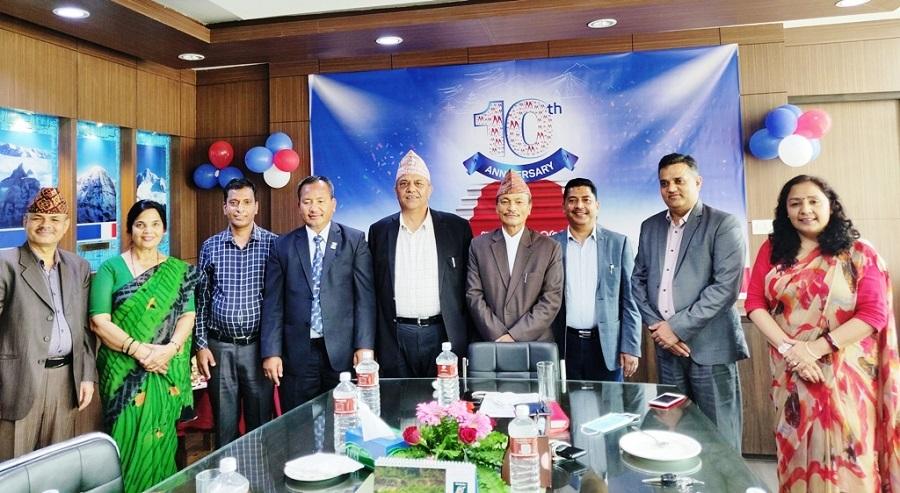 मेगा बैंक नेपाल सञ्चालनको १० वर्ष पूरा गरी ११ बर्षमा प्रवेश