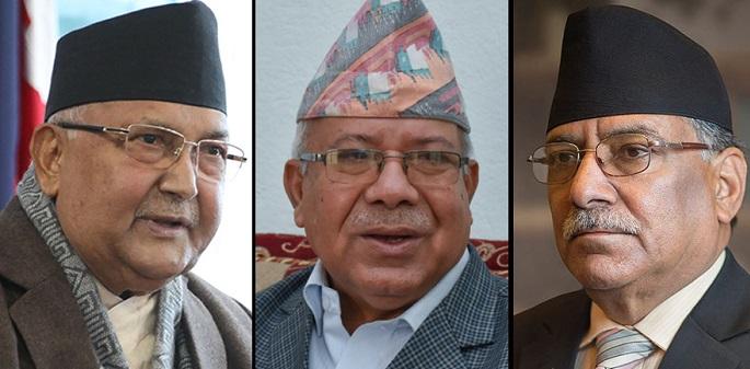 ओली, प्रचण्ड र नेपाल शक्ति सञ्चय गर्न गुटगत भेलाको तयारीमा