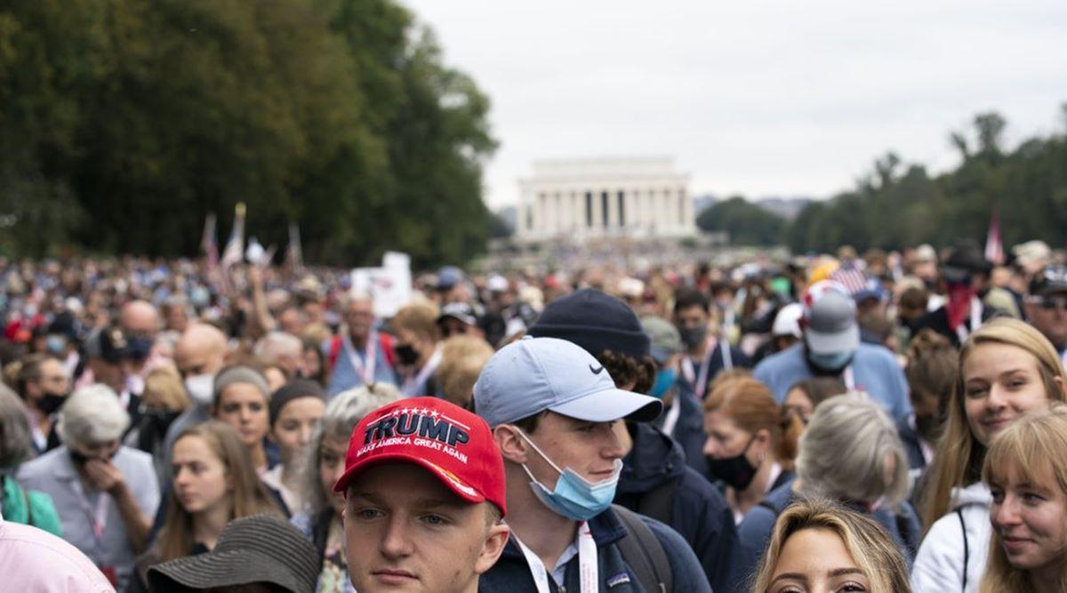 डोनाल्ड ट्रम्पको समर्थनमा वासिङटनमा हजारौँ जनाको र्याली