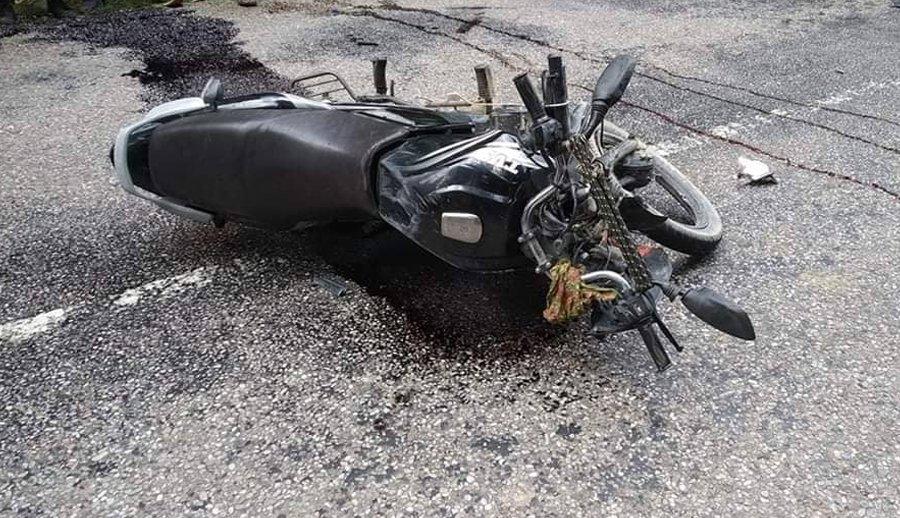 मोटरसाइकल दुर्घटना हुँदा एक जनाको मृत्यु