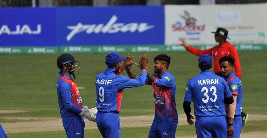 त्रिकोणात्मक टी -२० क्रिकेट:नेपाल नेदरल्याण्ड्ससँग तीन विकेटले पराजित