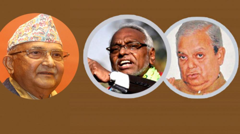 प्रधानमन्त्री ओलीले महन्थ ठाकुर–राजेन्द्र महतो समूहको राजनीति जोगाइदिन सक्लान् र ?