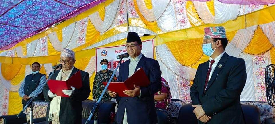 लुम्बिनी प्रदेशका मुख्यमन्त्री  केसी र मन्त्रीहरुले लिए शपथ