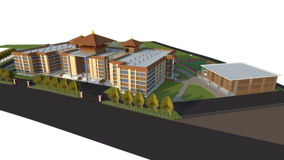 पुननिर्माण  प्राधिकरणको सहयोगमा  विद्यालयको भवन बन्ने