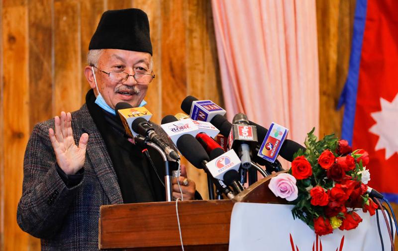 नयाँ जनादेश लिन्छु भन्नु प्रतिगामी होइन : नेता नेम्वाङ