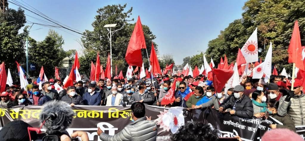 प्रचण्ड-नेपाल समूहले प्रतिनिधि सभा पुनर्स्थापना भएको खुसियालीमा आज देशभरि विजय जुलुस गर्ने