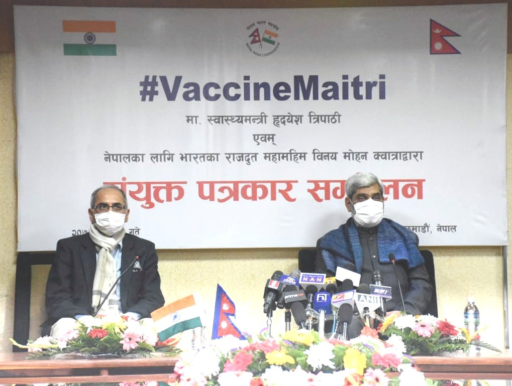 भारत सरकारले उपलब्ध गराउने १० लाख डोज कोरोना खोप बिहीबार काठमाडौं आइपुग्ने