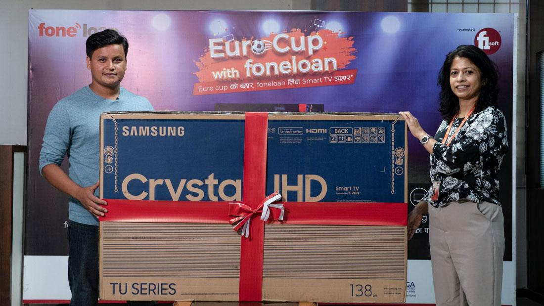 'युरो कप विथ फोनलोन' क्याम्पेनको विजेता अशोककुमार खति