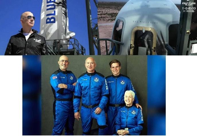 बन्यो इतिहास, जेफ बेजोसको टीम अन्तरिक्षतर्फ प्रस्थान ग-यो