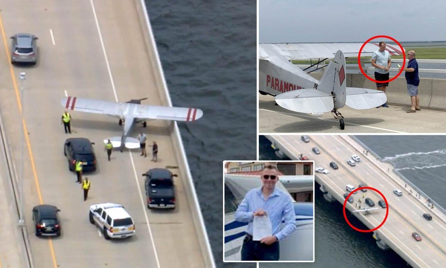 आपत परेपछि १८ वर्षका युवकले गाडी दौडिरहेको सडकको पुलमा विमान ल्याण्ड गराए