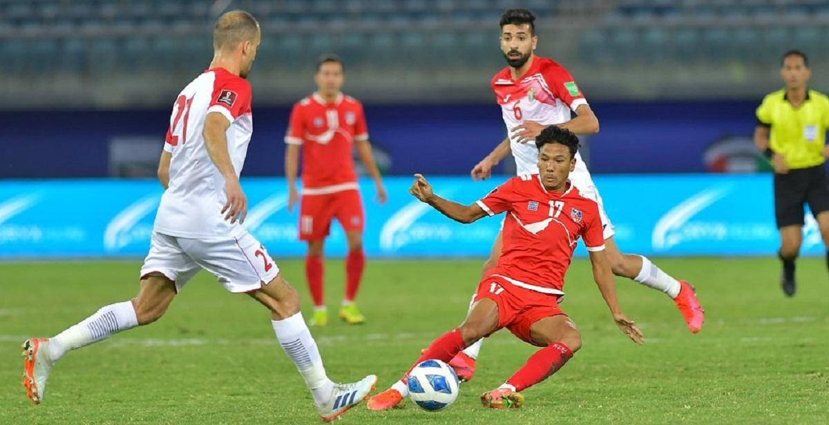 नेपाल जोर्डनसँग ३ -० ले पराजित