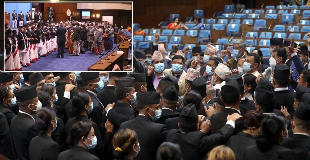संसद विघटन सही साबित गर्न खोज्दै एमाले, अवरोध हटाउन पहल भएन