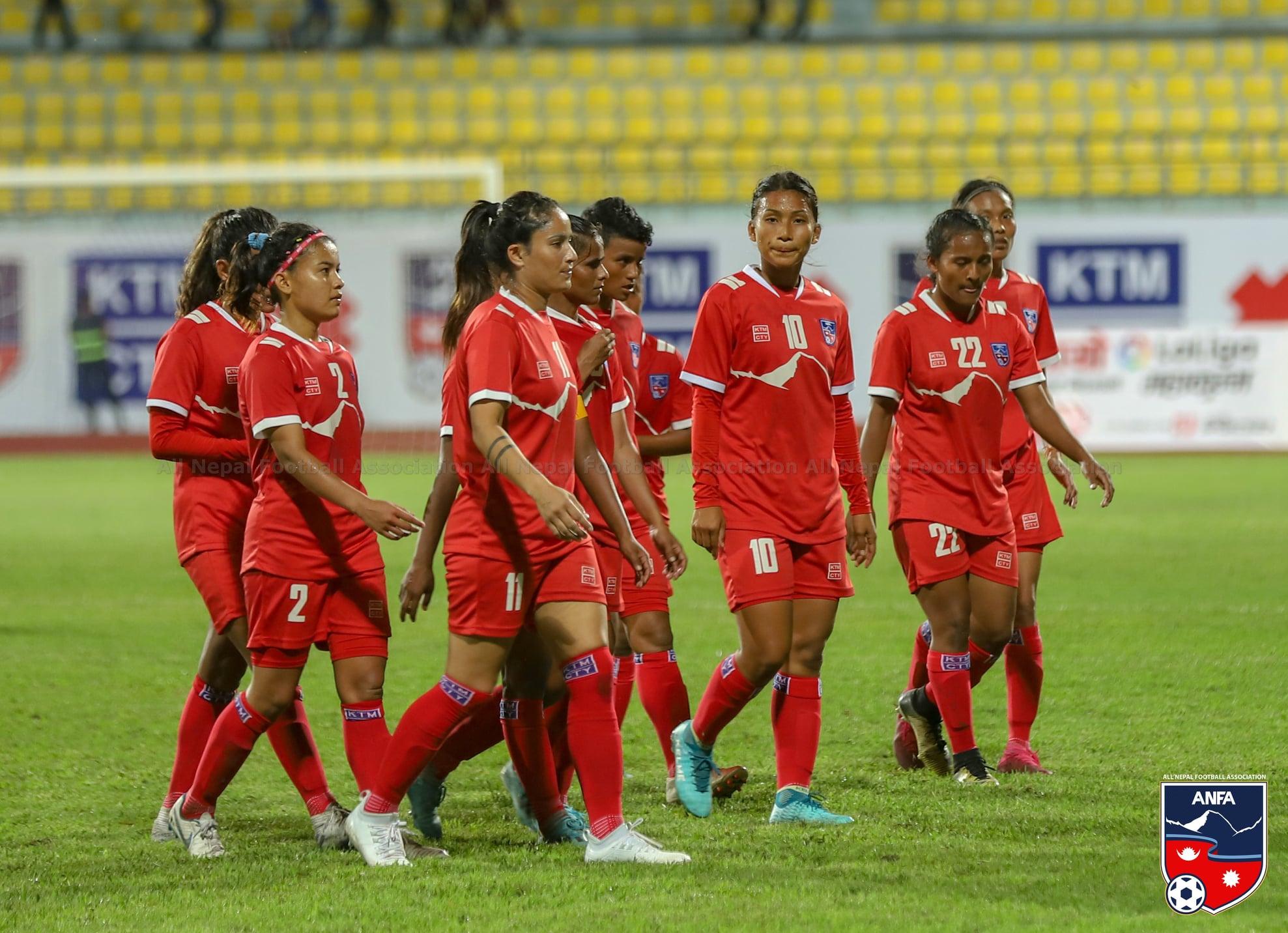 एएफसी महिला एसियान कप छनोट अन्तर्गत समूहको पहिलो खेलमा नेपाल फिलिपिन्ससँग पराजित