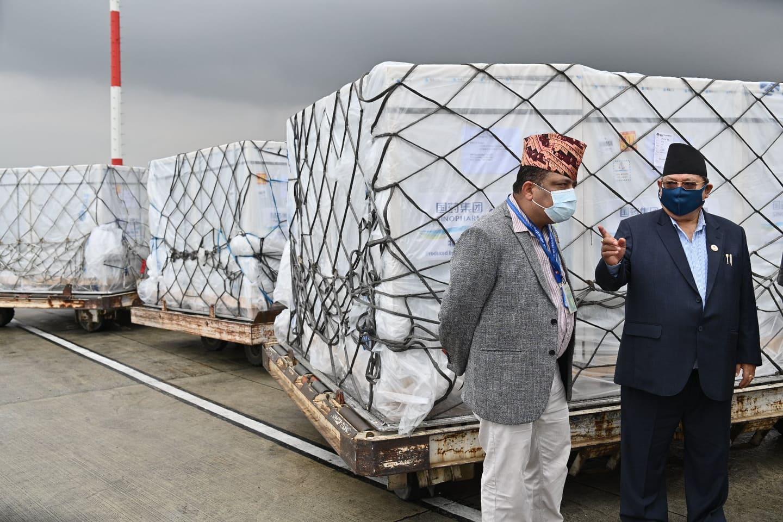 चीनबाट खरिद गरिएको ४४ लाख डोज भेरोसेल खोप  आइपुग्यो नेपाल